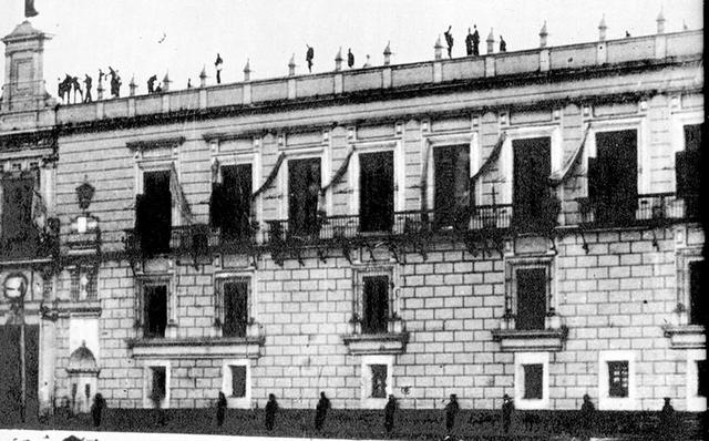 Bomba en Palacio Nacional