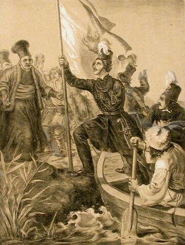 Ο Αλέξανδρος Υψηλάντης διαβαίνει τον Προύθο