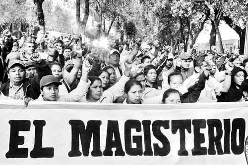 Manifestación de los maestros.
