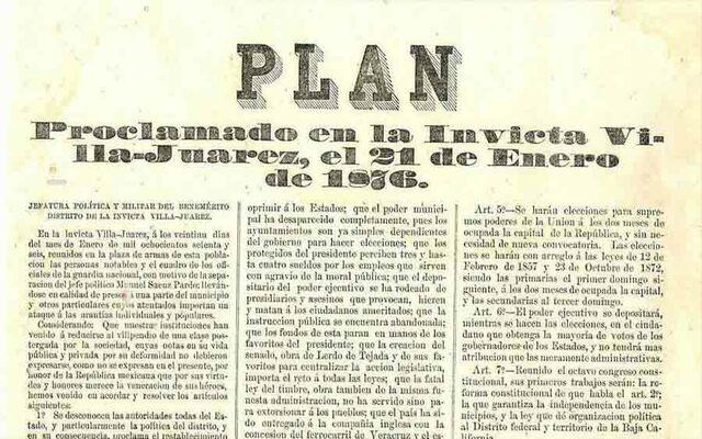 Proclamación Plan de Tuxtepec