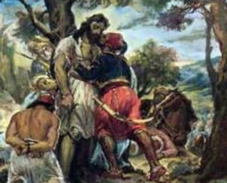 Μάχη στο Μανιάκι, θάνατος του Παπαφλέσσα