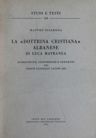 La Dottrina Cristiana