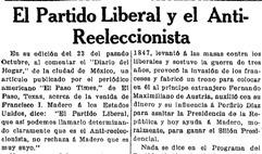 Partidos Nacional Reeleccionista y Antirreeleccionista (PNA)