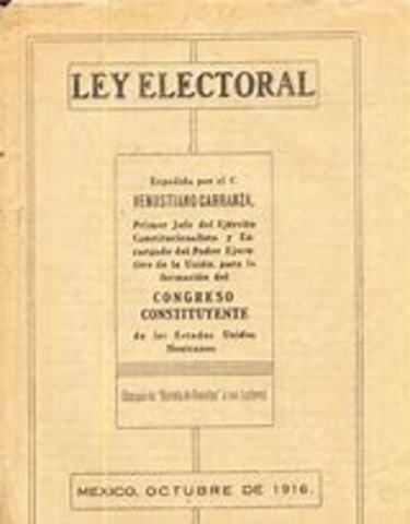 Promulgación de la Ley Electoral