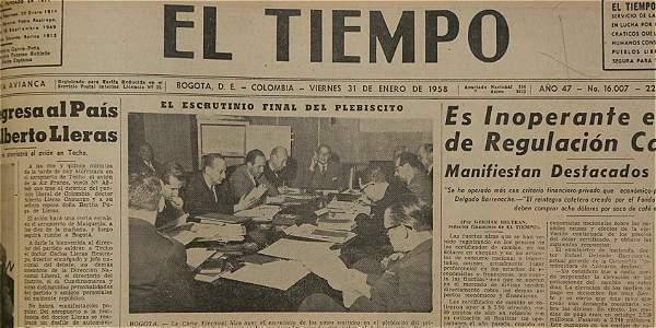 El día en que Colombia votó por primera vez en un plebiscito