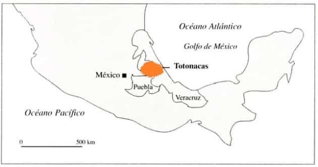 Ubicación Totonaca