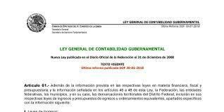 Reforma de la Ley General de Contabilidad Gubernamental (LGCG)
