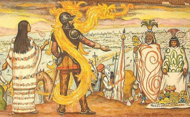 Llegada de Hernán Cortez y caída de Tenochtitlan
