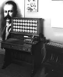 Hermann Hollerith utilizaría una perforadora mecánica