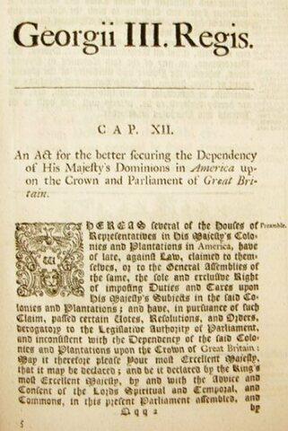 Deklarationsgesetz (Declaratory Act)
