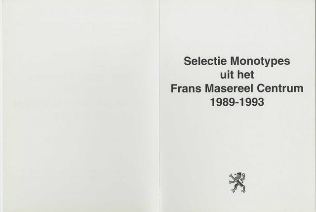 Grafiek 1989 uit het Frans Masereel Centrum