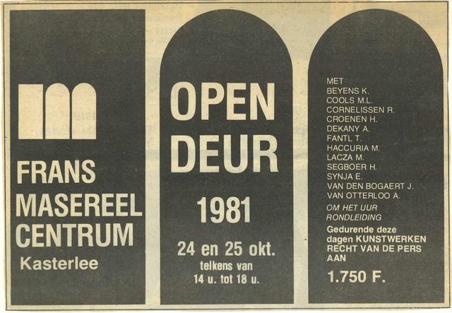 Open Deur 1981