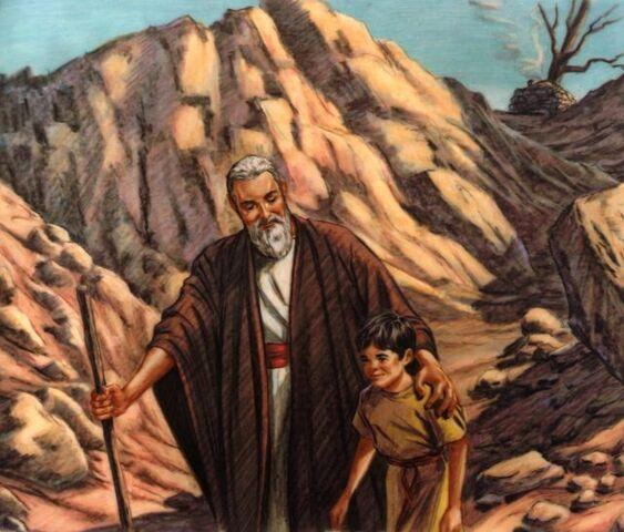 Abraham y el sacrificio.
