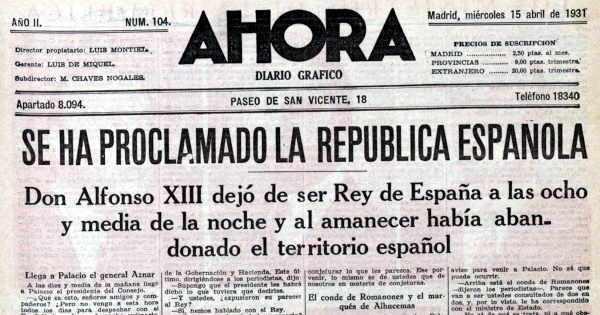 Final de la monarquía de Alfonso XIII y comienzo de la II República