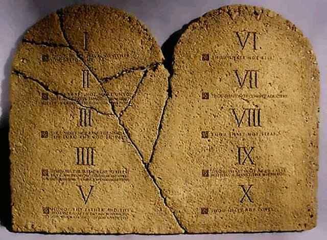 Los Diez mandamientos. (Israel)