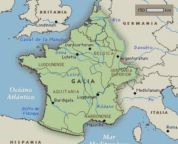 Julio César inicia la guerra de Las Galias