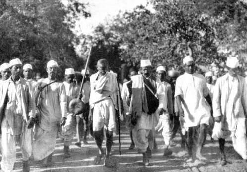 Gandhi leads the Salt March