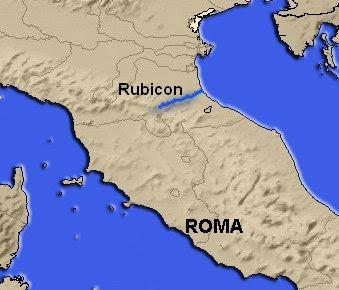 César cruza el Rubicón