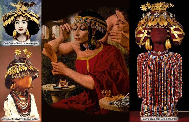 Mesopotamia. Orfebrería. Diadema de la reina Puabi.