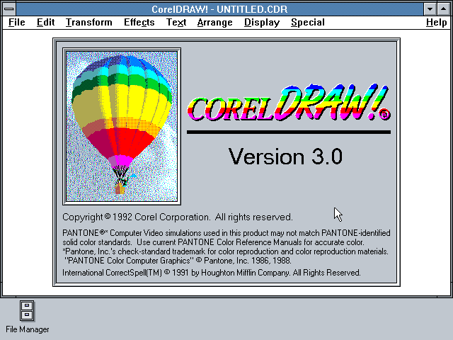 Corel Draw versión 3