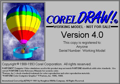 Corel Draw versión 4