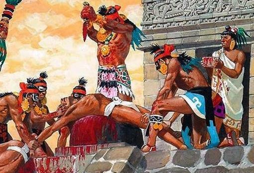 PRACTICA RELIGIOSA DE LOS AZTECAS O MEXICAS