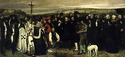 El entierro en Ornans, Gustave Courbet