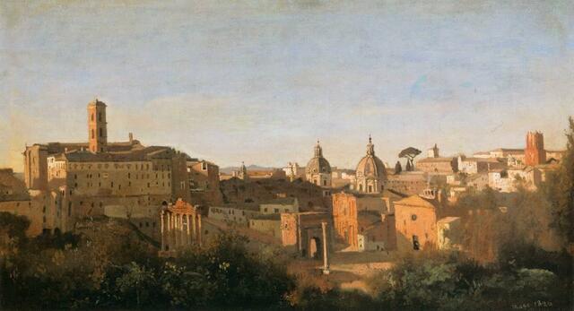 El Foro visto desde los Jardines Farnese, Corot