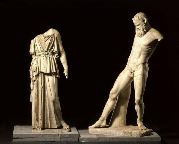 Grecia. Grupo de Atenea y Marsias.
