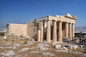 Grecia. Propileos de la Acrópolis de Atenas