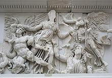 Grecia.  Friso oriental del Altar de Pérgamo
