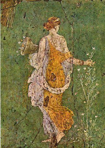Roma.  Fresco de la primavera. Museo Arqueológico de Nápoles (Italia)