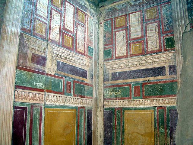 Roma. Pintura mural en Villa Arianna (Napoles).