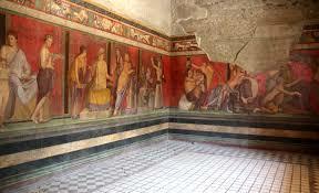 Roma. Frescos del Triclinio, Villa de los Misterios(Nápoles)