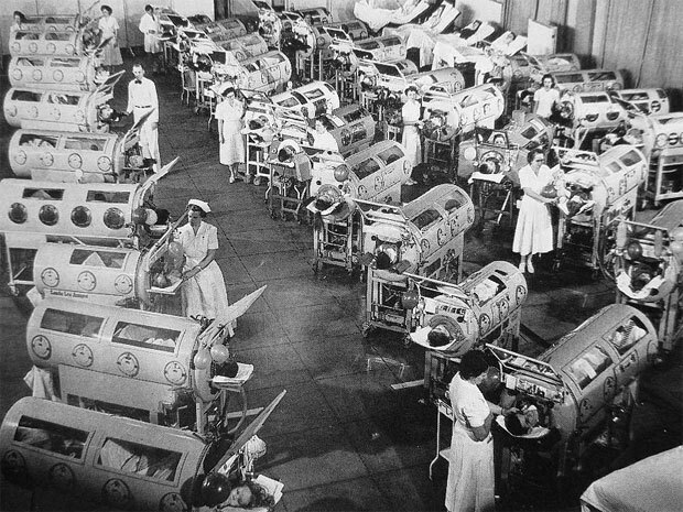 """1929 - """"iron lung""""."""