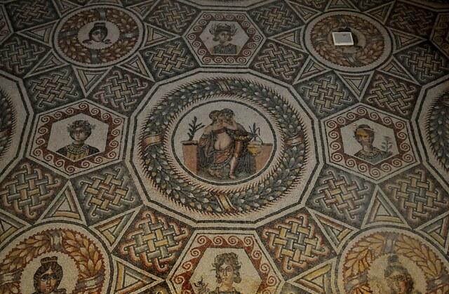 Roma. Conjunto de mosaicos de la Villa Romana del Casale, (Sicilia)