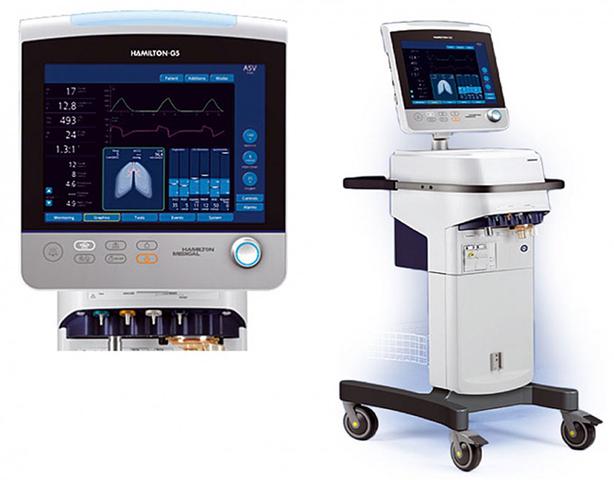 2012 - Respirador de última generación G-5 (Hamilton-Medical).