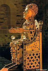 Arte Carolingio. Orfebería. Imagen relicario de Sainte-Fo