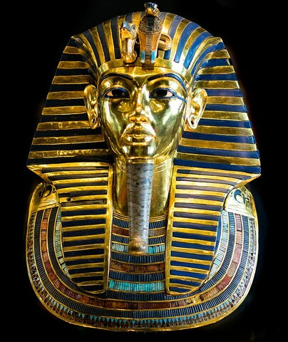 Arte Egipcio. Imperio Medio. Joyería. Máscara funeraria de Tutankamón