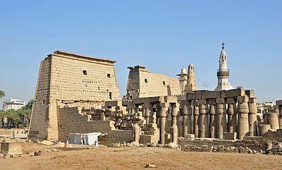 Arte Egipcio. Templo de Lúxor.