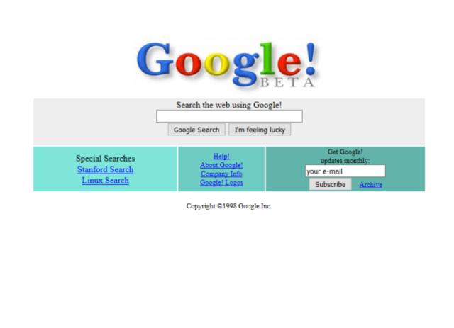 Aparición de las primeras páginas web comerciales