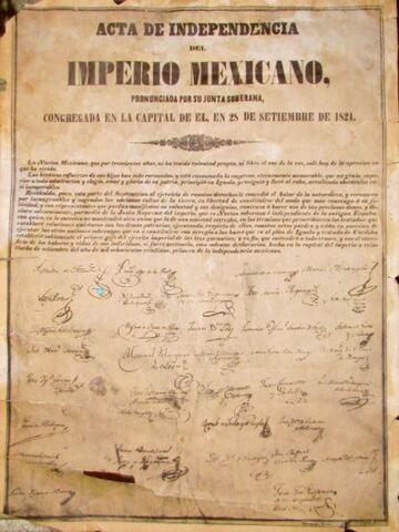 Declaración de Independencia del Imperio Mexicano