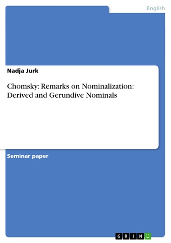 Remarks on Nominalization ( X Bar Theory )