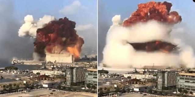Explosió a Beirut Líbano
