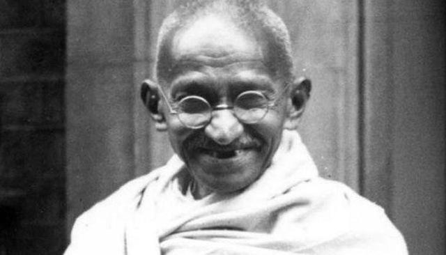 Gandhi getting arrested
