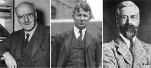 Ronald Fisher, Sewall G. Wright y JBS Haldane