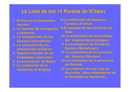 14 puntos de Wilson