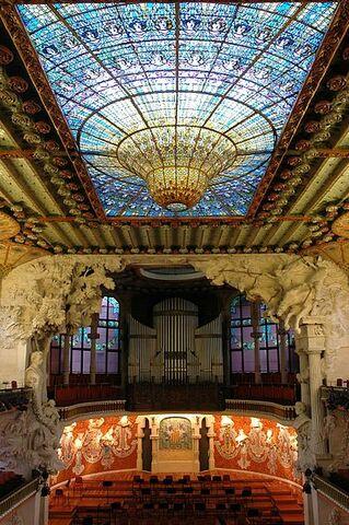 Palau de la música catalana (Lluís Domènech i Montaner)