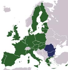 UE + Bulgaria y Rumanía