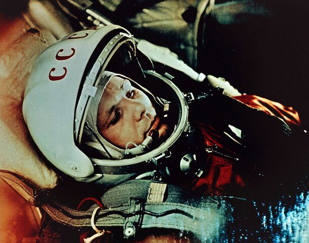 First Man in Space and First Man to Orbit Earth by the USSR